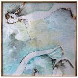 """""""Grain I"""" 24""""X24"""" acrylic, watercolor, charcoal on wood panel"""