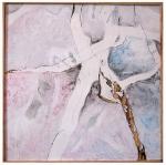"""""""Grain II"""" 24""""X24"""" acrylic, watercolor, charcoal on wood panel"""