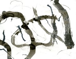 """""""Analytical Abstraction #17"""" 11""""X8.5"""" sumi ink, acrylic on paper"""