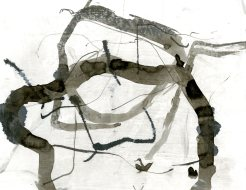 """""""Analytical Abstraction #19"""" 11""""X8.5"""" sumi ink, acrylic on paper"""