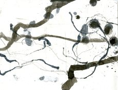 """Analytical Abstraction #21"" 11""X8.5"" sumi ink, acrylic on paper"