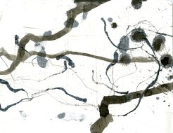 """""""Analytical Abstraction #21"""" 11""""X8.5"""" sumi ink, acrylic on paper"""