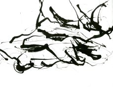 """Analytical Abstraction #25"" 11""X8.5"" sumi ink, acrylic on paper"