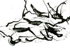 """""""Analytical Abstraction #25"""" 11""""X8.5"""" sumi ink, acrylic on paper"""