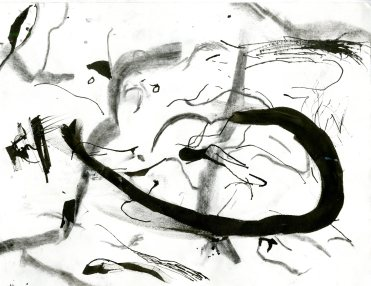"""""""Analytical Abstraction #27"""" 11""""X8.5"""" sumi ink, acrylic on paper"""