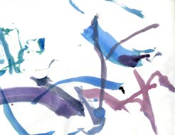 """""""Analytical Abstraction #33"""" 11""""X8.5"""" sumi ink, acrylic, watercolor on paper"""