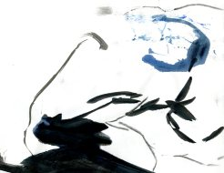 """""""Analytical Abstraction #35"""" 11""""X8.5"""" sumi ink, acrylic, watercolor, charcoal on paper"""