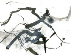 """""""Analytical Abstraction #41"""" 11""""X8.5"""" sumi ink, acrylic, charcoal on paper"""