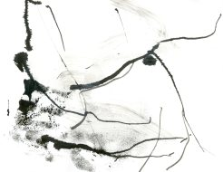 """""""Analytical Abstraction #42"""" 11""""X8.5"""" sumi ink, acrylic, charcoal on paper"""