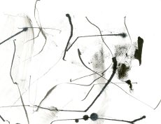 """Analytical Abstraction #43"" 11""X8.5"" sumi ink, acrylic, charcoal on paper"