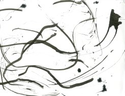 """""""Analytical Abstraction #47"""" 11""""X8.5"""" sumi ink, acrylic, charcoal on paper"""