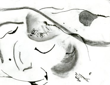 """""""Analytical Abstraction #50"""" 11""""X8.5"""" sumi ink, acrylic, charcoal on paper"""