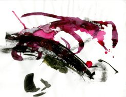 """""""Analytical Abstraction #52"""" 11""""X8.5"""" sumi ink, acrylic, charcoal on paper"""