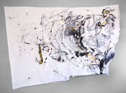 """""""The Stomach and Legs"""" 72""""X96"""" acrylic, charcoal, sumi ink on paper"""