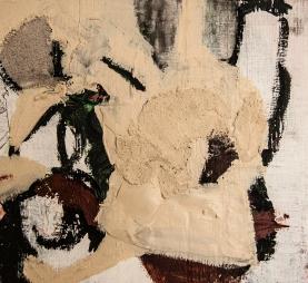 """Caked Desert"" 12""X11"" mixed media on wood panel"
