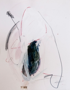 """""""On It's Way to Being Consumed"""" 14""""X11"""" mixed media on paper"""