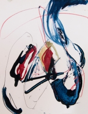 """""""A Brisk Rhythm Conceals All Sadness"""" 14""""X11"""" mixed media on paper"""