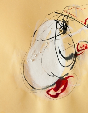 """""""Soaked Strings #31"""" 11""""X8.5"""" mixed media on cardstock"""