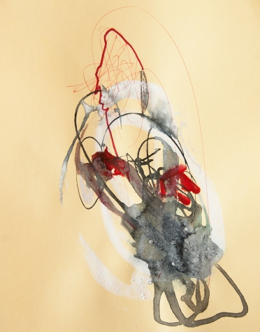 """""""Soaked Strings #33"""" 11""""X8.5"""" mixed media on cardstock"""