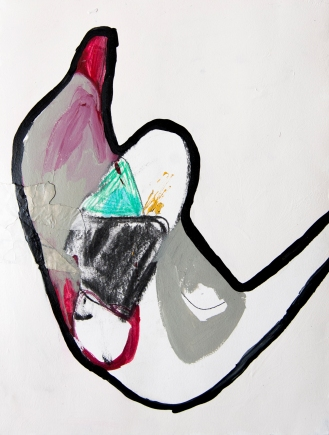"""AVAILABLE: 20""""X15"""" mixed media on paper"""