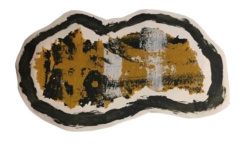"""Imprint #1"" 8""X10"" acrylic, latex paint, paper, foam board,"