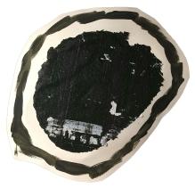 """Imprint #5"" 8""X9"" acrylic, latex paint, paper, foam board,"