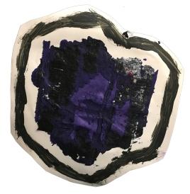 """Imprint #9"" 8""X8"" acrylic, latex paint, paper, foam board,"